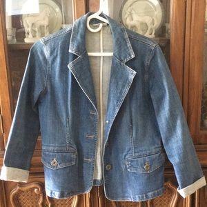 Chico's Platinum Denim Jacket